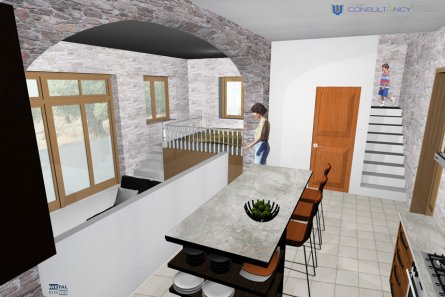 Consaltancy main » 2 storey stone building  - residence in embona