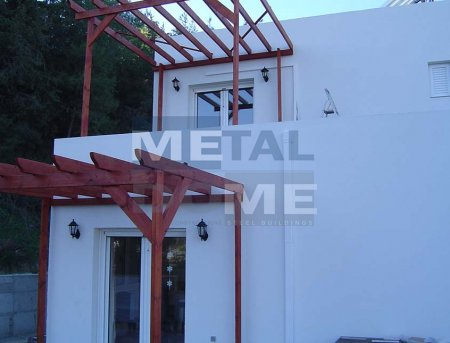Metaldome main » Two storey building – residence in Lardos, Rhodes